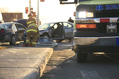 An accident scene on the road |  Northglenn Wrongful Death Attorneys