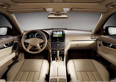 View of the interior of a modern business car showing the dashboard | Seven Effective Safety Features You Should Know About