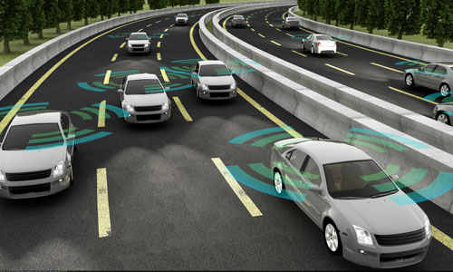 cars on the freeway with lane sensors | Life Saving Auto Safety Tech