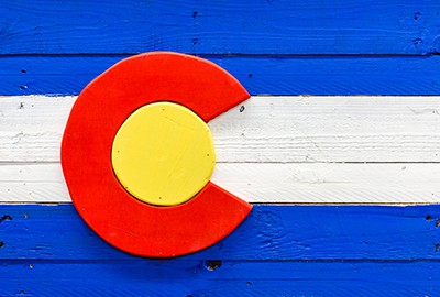 Handmade flag of Colorado state from wood and painted | How Happy are Coloradans?