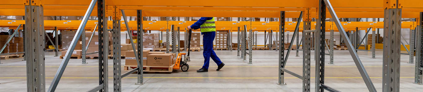 Warehouse worker knowing workers comp requirements staying safe